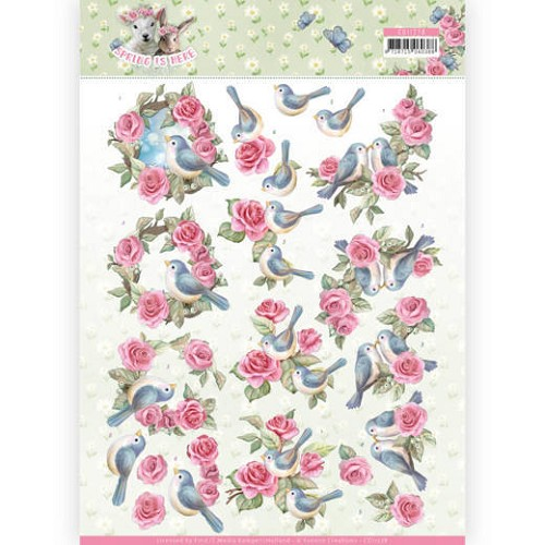 3D Knipvel - Amy Design - Spring is Here - Birds and Roses