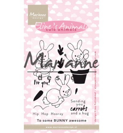 EC0178 - Eline`s cute animals – bunnies stamp