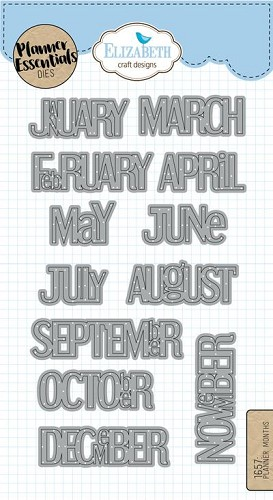 Elizabeth Craft Designs Planner Months
