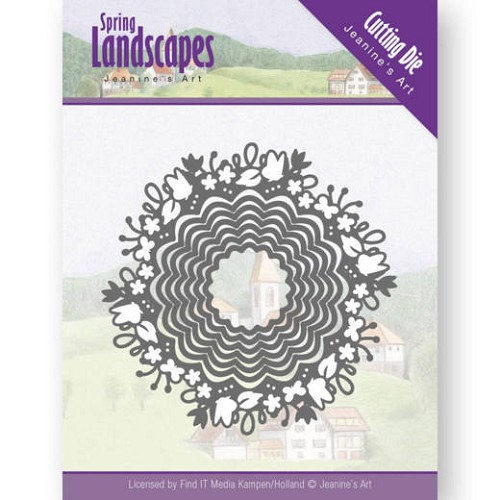 Dies - Jeanine`s Art - Spring Landscapes - Spring Scalloped Circle