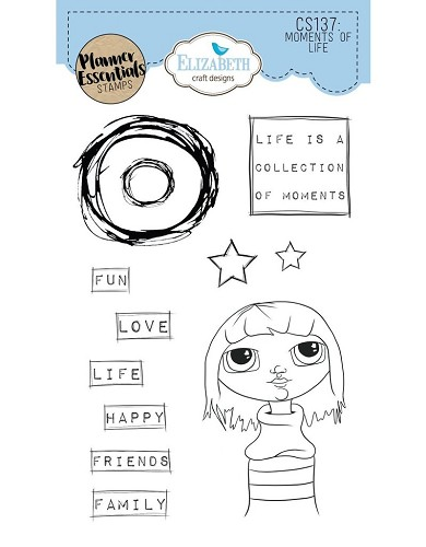 Elizabeth Craft Designs planner clearstamps My Life