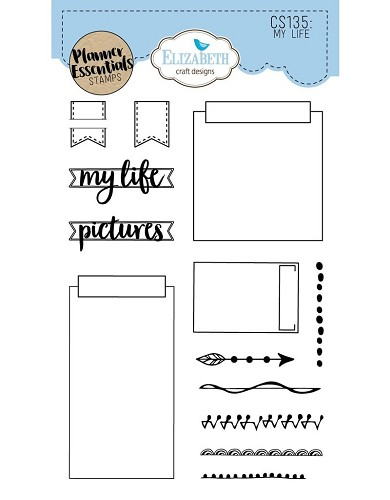 Elizabeth Craft Designs planner clearstamps My Life CS135
