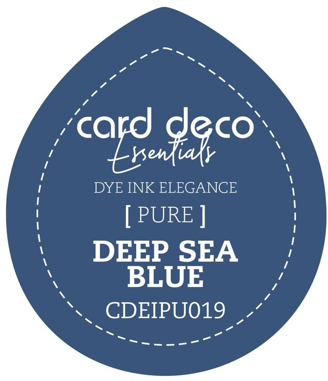Card Deco Essentials Fade-Resistant Dye Ink Deep Sea Blue