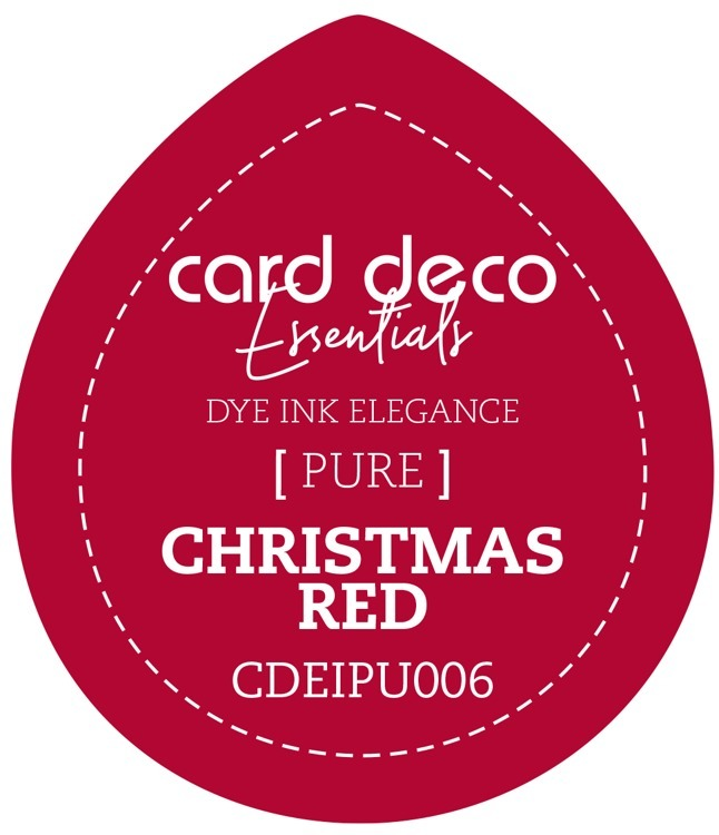 Card Deco Essentials Fade-Resistant Dye Ink Christmas Red