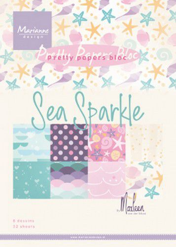 Marianne D Paperpad Sea sparkle by Marleen A5 PK9163 A5 (06-19)