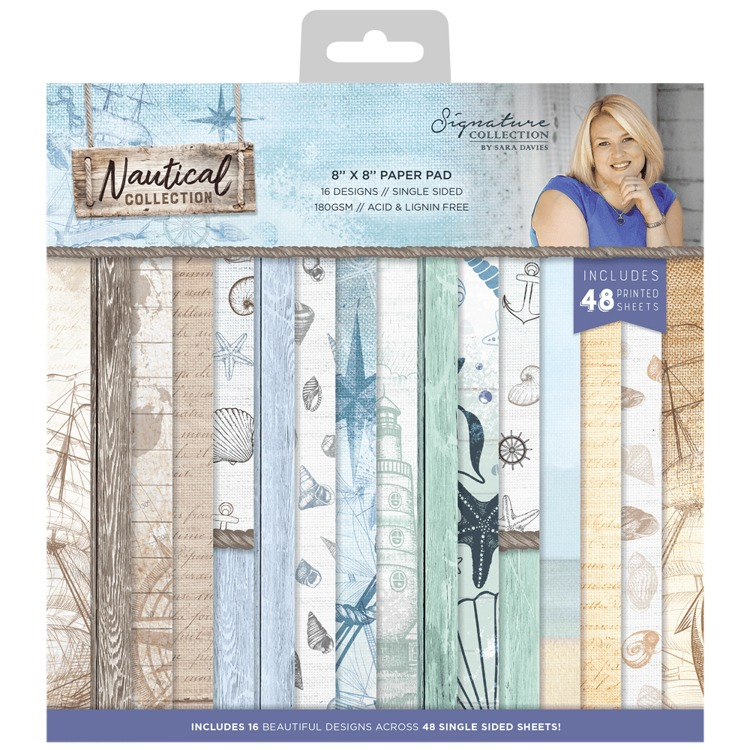 Sara Signature Collection Nautical - 8x8 (20x20 cm) Paper Pad