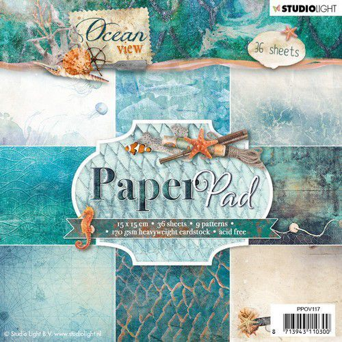 Studio Light Paper pad 36 vel Ocean View 3.0 nr 117 PPOV117 (05-19)