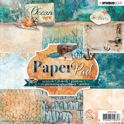 Studio Light Paper pad 36 vel Ocean View 3.0 nr 118 PPOV118 (05-19)