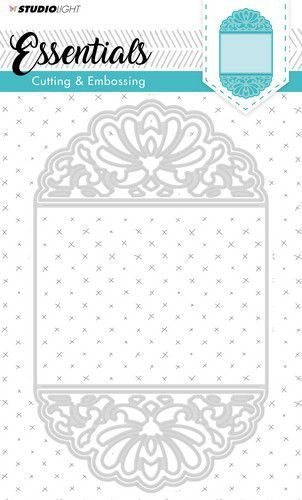 Studio Light Embossing Die Cut Stencil Essentials nr.196 STENCILSL196 207x123 mm (06-19)