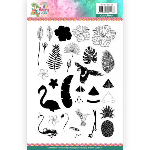 Clear Stamps - Yvonne Creations - Happy Tropics