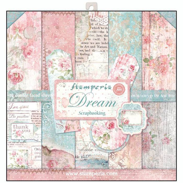 Stamperia Dream 12x12 Inch Paper Pack (SBBL27)