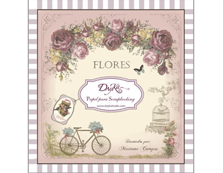 DayKa Trade Flores 8x8 Inch Paper Pad (SCP-1005)