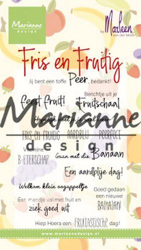 cs1030 Marianne D Clear Stamps Marleen's Fris & Fruitig (NL) CS1030 2x118mm (07-19)