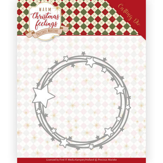 Dies - Precious Marieke - Warm Christmas Feelings - Star Circle