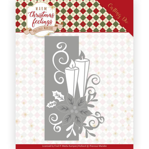 Dies - Precious Marieke - Warm Christmas Feelings - Candle Edge
