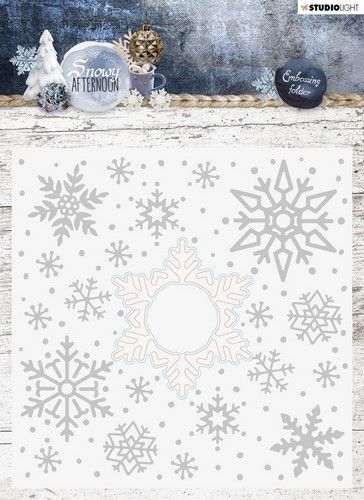Studio Light Embossing Folder With Die Cut, Snowy Afternoon nr.02 EMBSA02 (08-19)