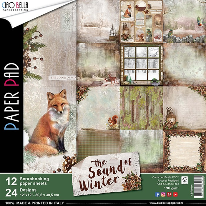 The sound of Winter  paperpad ciao bella