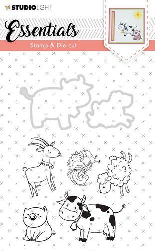 Studio Light Stamp & Die Cut A6 Essentials Animals nr 32 BASICSDC32 (07-19)