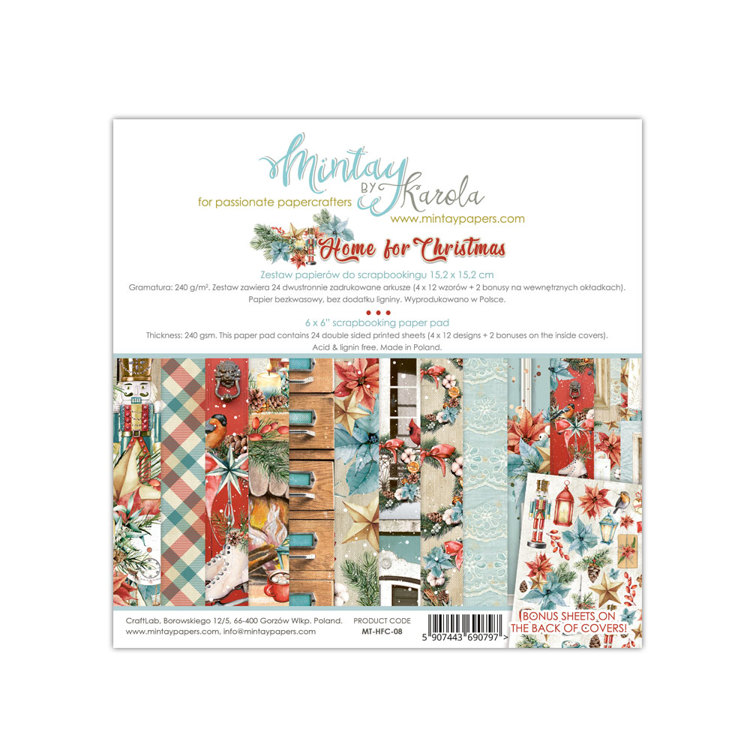 Paperpad Mintay - Home for Christmas 15,2 x 15,2 cm