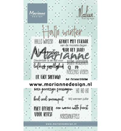CS1036 - Hallo winter by Marleen clearstamp