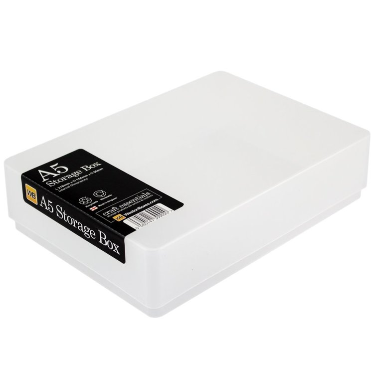 A5 Weston Storage Box, Clear
