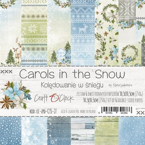 Craft-O-Clock - Carols in the Snow Paperpad 30,5 x 30,5 cm