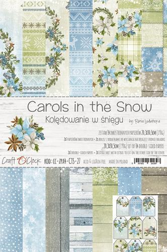 Craft-O-Clock - Carols in the Snow Paperpad A4 formaat