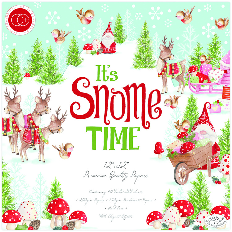 Craft Consortium It's Snome Time 12x12 Inch Paper Pad