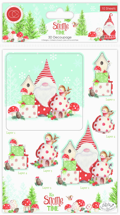 Craft Consortium It's Snome Time 3D Decoupage & Toppers Set