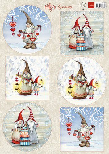 HK1707 Marianne D Knipvellen Hetty's Winter gnomes
