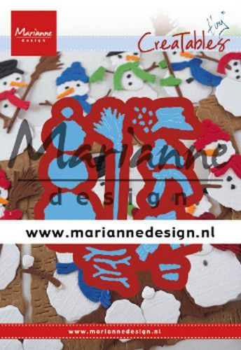 Marianne D Creatable Tiny's Frosty snowmen LR0631 68,5x42,5 mm (10-19)