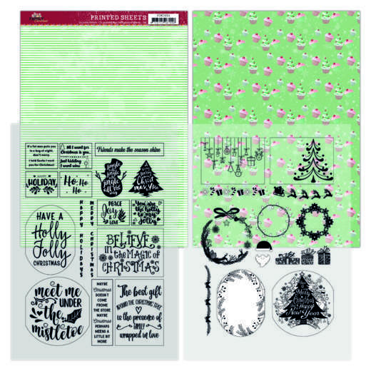 Mica Sheets - Yvonne Creations - Family Christmas
