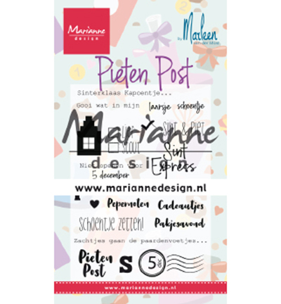 cs1042 clearstamp Pietenpost by Marleen