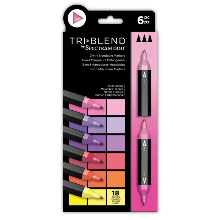 Spectrum Noir - Triblend - floral blends  6 stuks