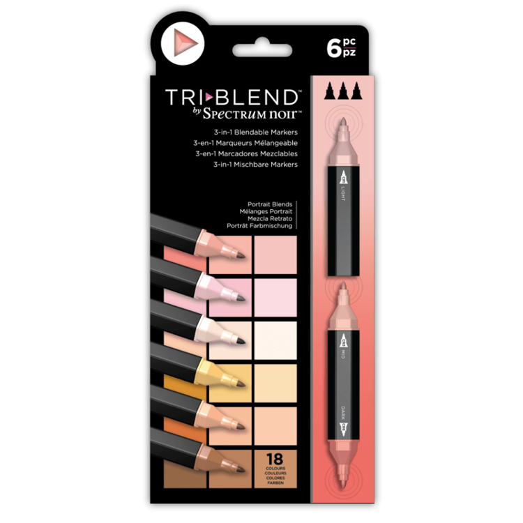 Spectrum Noir - Triblend - Portrait Blends (Portret Blends) a 6 stuks