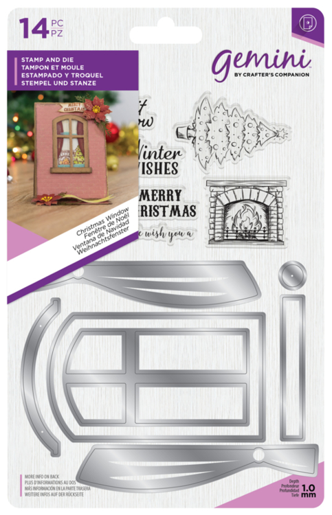 Gemini Kerst Shaker Card Clearstamp & Snijmal - Christmas Window