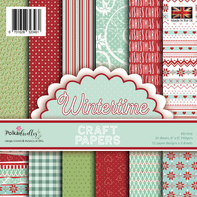 Polkadoodles Wintertime 6x6 Inch Paper Pack
