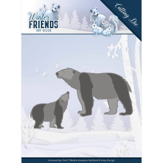 Dies - Amy Design - Winter Friends - Polar Bears