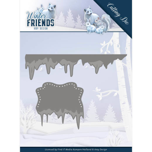 Dies - Amy Design - Winter Friends - Ice Border