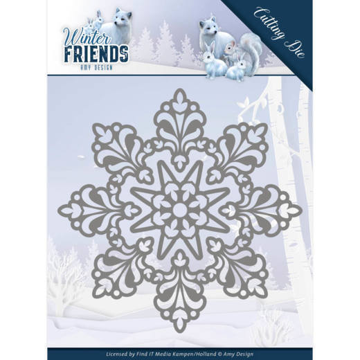 Dies - Amy Design - Winter Friends - Snow Crystal