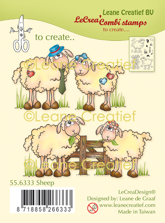LeCreaDesign® combi clear stamp Schapen