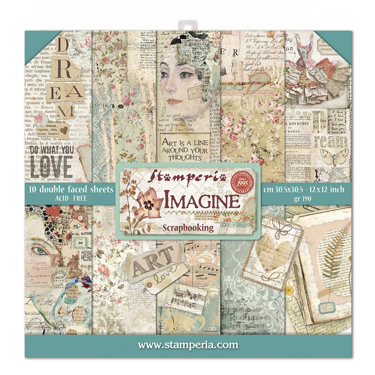 Stamperia Imagine 12x12 Inch Paper Pack