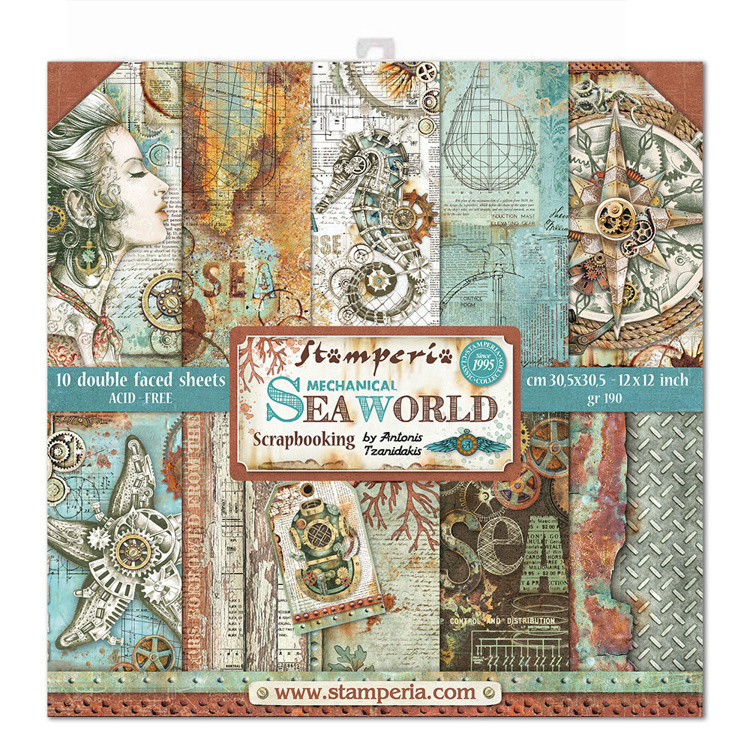 Stamperia Sea World 12x12 Inch Paper Pack