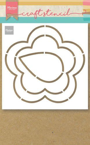 ps8053 Marianne D Craft Stencil boterbloem  149x149mm (02-20)