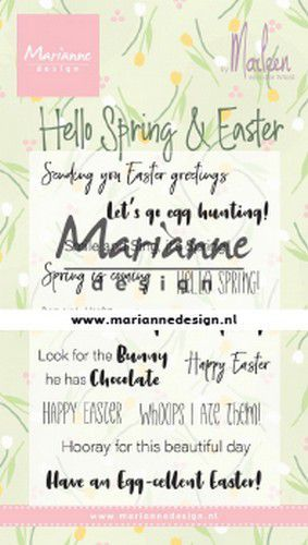cs1044 Marianne D Clear Stamps Marleen's Hello Spring & Easter (Eng)  185x120mm (02-20)