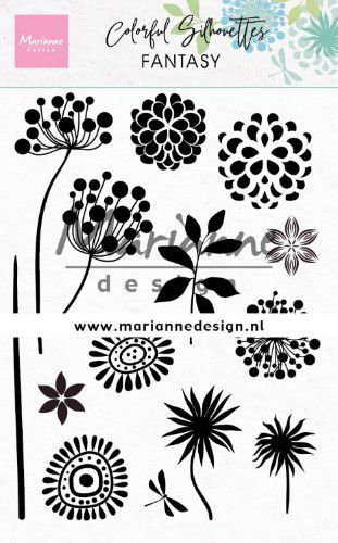 cs1047 Marianne D Clear Stamps Colorful Silhouette - Fantasie  1110x150mm (02-20)