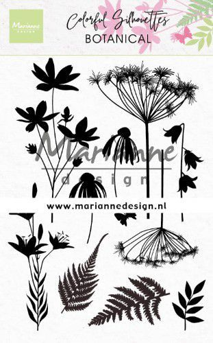 cs1048 Marianne D Clear Stamps Colorful Silhouette - Botanisch  110x150mm (02-20)