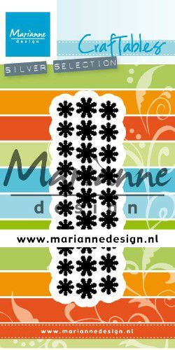 cr1501 Marianne D Craftable Punch die madeliefjes  28x92mm (02-20)