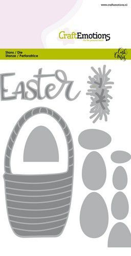 CraftEmotions Die - Easter - paasmandmet eieren Card 10,5x14,8cm Carla Creaties (01-20)