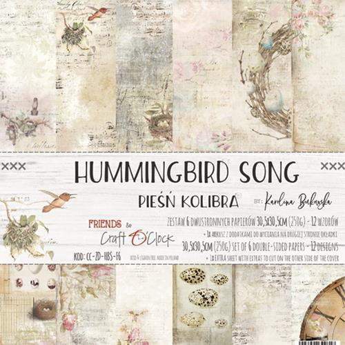 "Paper Collection Set 12""*12"" Hummingbird Song, 250 gsm"